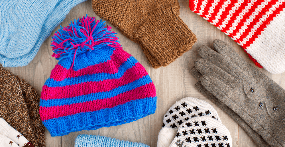 Photo of mittens, scarves and toques