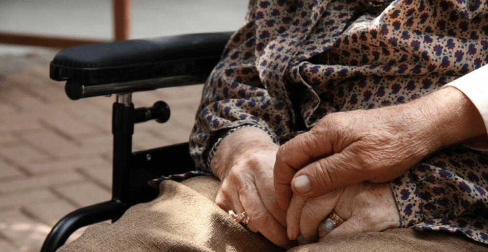 Photo of an elderly woman's hands