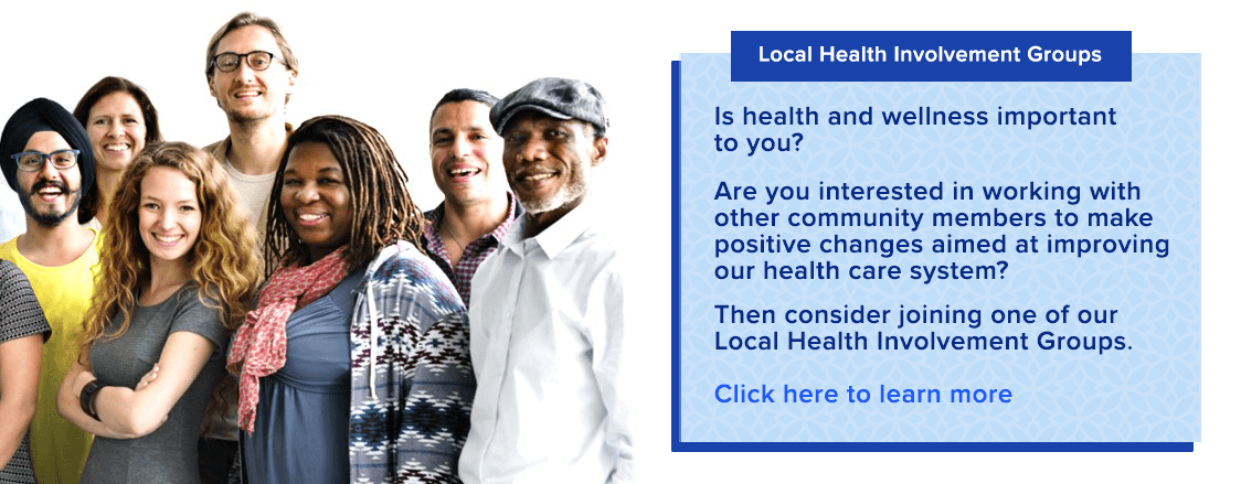 Join a Local Health Involvement Group